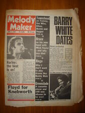 MELODY MAKER 1975 APR 12 BARRY WHITE RINGO PINK FLOYD