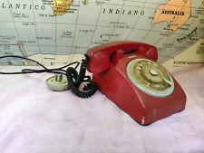 TELEFONO Classico Face Standard Rosso Sip Vintage usato da pulire 9279AE L3 FN