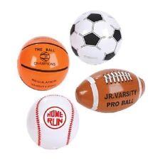 "4 INFLATABLE SPORTS BEACH BALLS 8"" Baseball Football Soccer #AA35 Free Shipping"