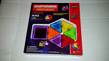 MAGFORMERS Solids Clear Rainbow 14 Piece Set Playset NEW SEALED