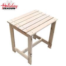 Outdoor/ Indoor Wooden Coffee Side Table Patio End Shelf Garden Home Furniture