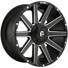 "4-Fuel D616 Contra 20x9 6x135/6x5.5"" +20mm Black/Milled Wheels Rims 20"" Inch"