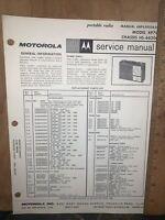 Motorola Portable Radio -Service Manual- Model XP7C. Schematics,Parts List.