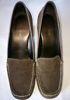 Nine West Shoes brown Suede / leather slip on, UK 8