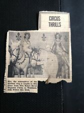 m1-5 ephemera 1949 Picture Don Ross Royal Imperial Circus Walthamstow