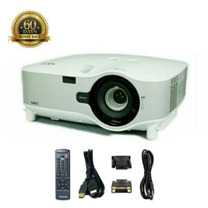 NEC NP1150 3LCD Projector Wireless 3700 ANSI HD 1080i HDMI-adapter w/Accessories