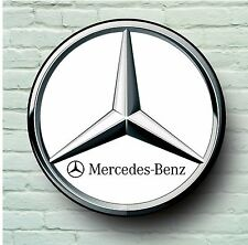 MERCEDES LOGO 2FT LARGE GARAGE SIGN WALL PLAQUE CLASSIC SPORT CAR XJ XR MAN CAVE