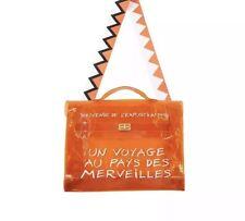 Borsa Shopping Bag Limited Edition Modello Hermes Estate 2019 In Pvc Trasparente