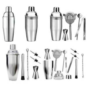 24 Ounce Cocktail Shaker Bar Set with Accessories - Martini Kit with Measurin H