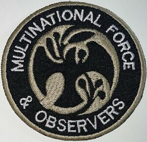 Multinational Force & Observers Patch Black 3 Inches Hook & Sew-On New A523