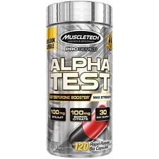 MuscleTech Pro Series AlphaTest Max-Strength Testosterone Booster 120 Rapid-R...