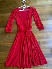 Mango Medium Red Midi Wrap Dress