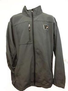 New Philadelphia Flyers MENS Adult Size XL-2XL-3XL Hard Shell Full Zip Jacket