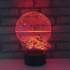 Star Wars 3D illusion LED Lamp Touch Switch Table Desk Night Light Kids Gift