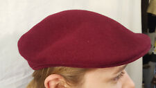 Vintage Wool Burgandy Kangol ivy driving newsboy cabbie cap hat made in England
