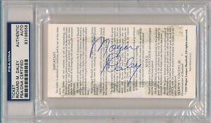Mayor Richard M. Daley Signed 1990 MLB All Star Game Ticket Chicago Cubs PSA/DNA