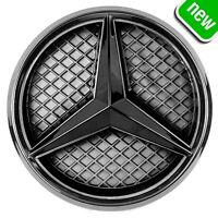 MERCEDES BENZ 2011-2018 LED LIGHT CAR GRILL BLACK STAR LOGO BADGE EMBLEM FRONT