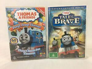 Thomas The Tank Engine & Friends DVD x 2 - Peep Peep Hurray, Tale Of The Brave