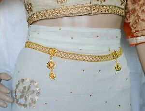 Indian Bridal Waist Chain Hip Belt kamar Bandh Chain For Women And Girls Gold