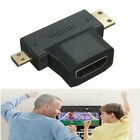 3 in 1 HDMI Female to Mini HDMI Male + Micro HDMI Male Cable Adapter Connector A