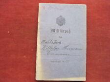 Militärpaß i.r.78 Braunschweig, campo-rekrutendepot d.19.res. - Div.