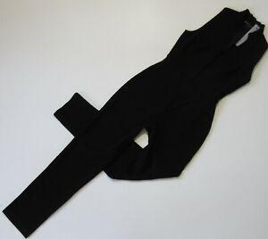NWT Black Halo Antoinette in Black Slim Tapered Stretch Jumpsuit 10 $375