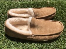 Men's UGG Ascot Suede Shearling Lining Slippers Sz 11