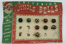 New Listing9 Vintage Criterion Metal Jingle Bells Multicolor Size Small Original Packaging