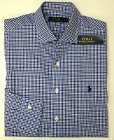 NWT $98 Polo Ralph Lauren Long Sleeve Shirt Mens Small S M L XL Plaid Check Blue