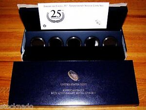 2011 25TH ANNV. SILVER AMERICAN EAGLE BOX SET REPLACEMENT A25 - EMPTY NO COINS