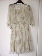 NEW Nicole Farhi floral print silk strapless dress with bolero top UK12 US8 EUR
