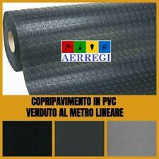 Copri pavimento copripavimento  in pvc bullonato grecato passatoia gomma nero