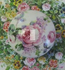 VINTAGE Pink Roses Ceramic Knob chic shabby flowers.cabinet kitchen office Pull