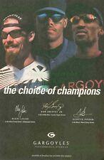 Gargoyles Sunglasses Alexi Lalas, Ken Griffey Jr., Scottie Pippen Photo Print Ad