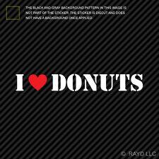 (2x) I Love Donuts Sticker Die Cut Decal Self Adhesive Vinyl <3 police cop