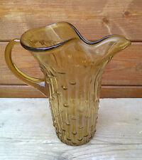 Ancien vase en verre soufflé, art déco, très bel objet.