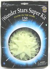 GLOW IN THE DARK WONDER STARS SUPER KIT CONTAINS 150 STARS - BRAND NEW!!