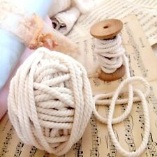 Lovely 3Ply Quality Cotton Piping Cord Rope Tape Edging Ribbon Ecru Unbleachd 1M