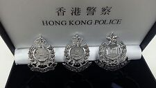 3 pcs From 1934 to 1997 History of Royal Hong Kong Police Badge Insignia patch