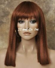 Blunt Bangs Straight Red hair with skin top top WBDC 130 FULL WIG lady gaga