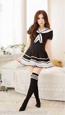 甜美夢境 可愛女式學生水手角色扮演制服誘惑套裝  Sailor School Uniform Cosplay