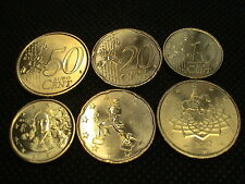 ITALIA 2002 MONETE EURO :10 + 20 + 50 CENT 3 COINS UNC UNCIRCULATED by MINT ROLL