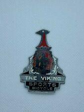 Viking bicycle head badge antique brass bike front badge