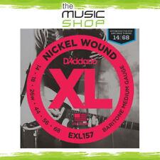 Set D'Addario EXL157 14-68 Nickel Wound Electric Guitar Strings - Baritone Med.