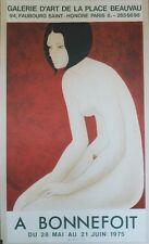 """""""A BONNEFOIT: EXPO GALERIE D'ART PLACE BEAUVAU 1975"""" Affiche originale entoilée"""