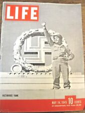 LIFE May 14 1945 German surrender, Mussolini death, French satire, G Fisher, DPs