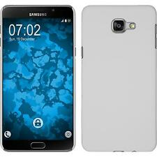 Hardcase Samsung Galaxy A9 rubberized white Cover + protective foils