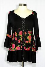 Dare to Wear CABARET Empire Waist Corset Top ROSE NOIR 2XL, 2X, 16-18
