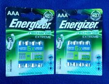 2 X 4 Pack of Energizer Rechargeable AAA  (TOTAL 8 BATTERIES)  800mAh - NEW