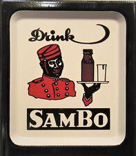 Tin Advertising Thermometer ~ Sambo ~ Chocolate Malted Milk